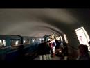 Прибытие мини-поезда. Пещера Нового Афона. Абхазия.