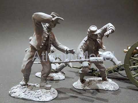 Солдатики 1 32 Conte Попадание в орудие Конфедерация №2 МЕТАЛЛ №47