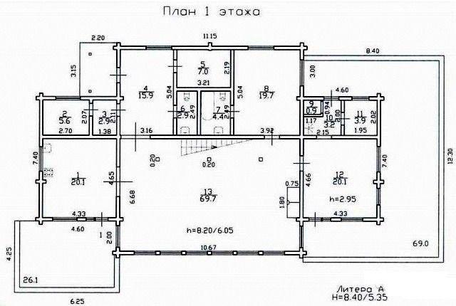 Дизайн интерьера дома из клееного бруса