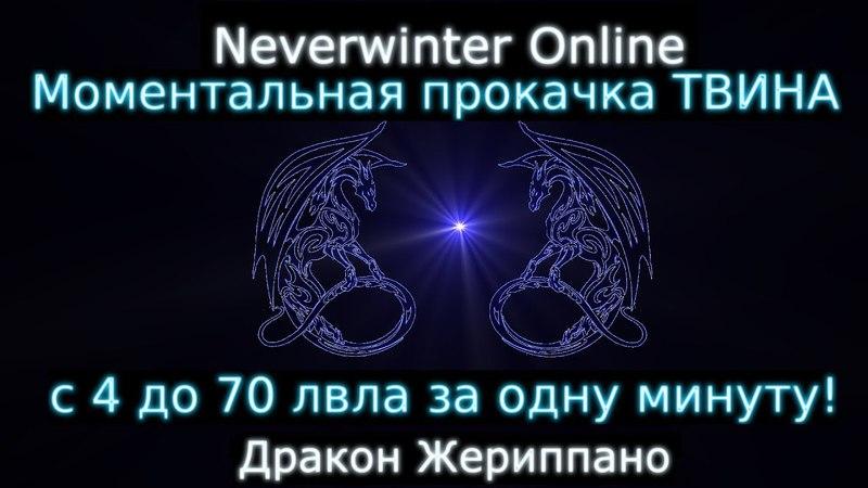 Моментальная прокачка ТВИНА С 4 до 70 за минуту Neverwinter online M13