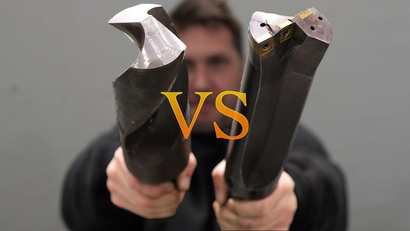 Huge 3 inch Twist Drill VS Carbide Tip
