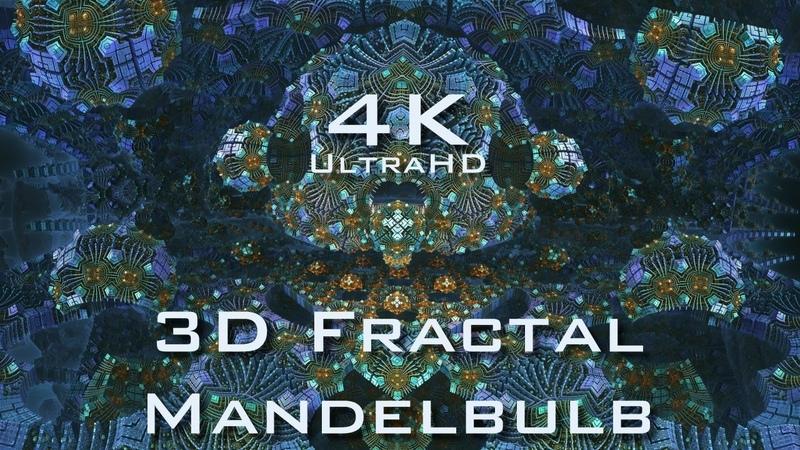 4K Fractal Matrix - Mandelbulb 3D fractal UltraHD 2160p