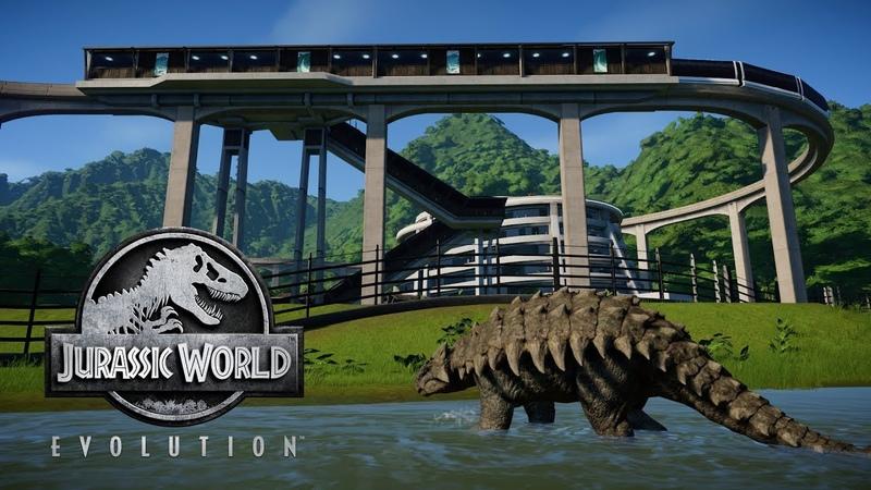 Jurassic World Evolution Анкилозавр и заполняем остров по полной 10