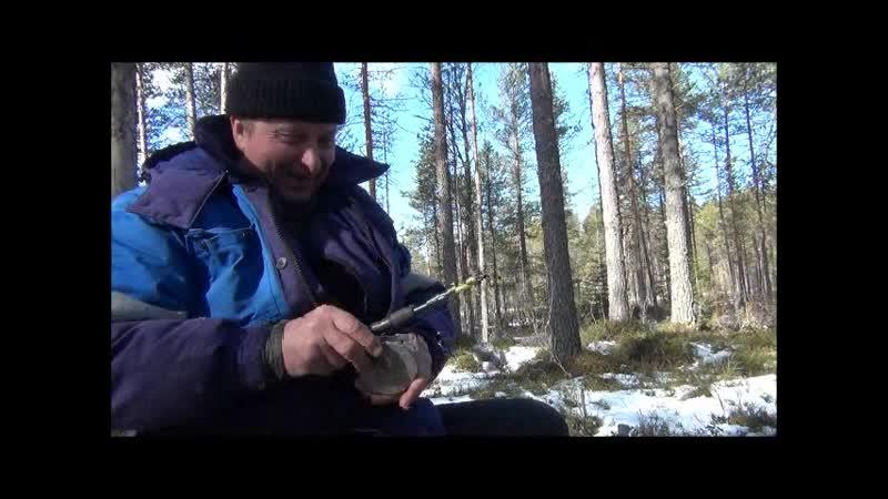 Март 2014 г Рыбалка на оз Сарозеро Лешина мормышка