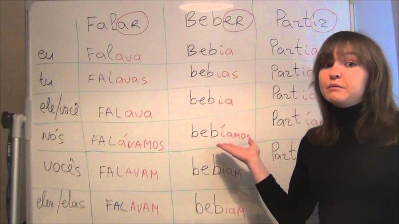 Спряжение глаголов -Прошедшее время Урок 12 (Часть 2) Португальский язык.