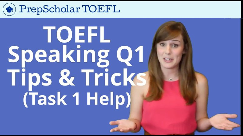 NEW Tips and Tricks for TOEFL Speaking Question 1 | Independent Task 1