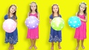 Learn colors with balloons Finger Family Songs for kids by Elina and Julia