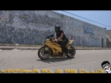 Owner-Rider- @Carlosjr_21 - Gold Yamaha R6 Wrapped By- @Rodwraps