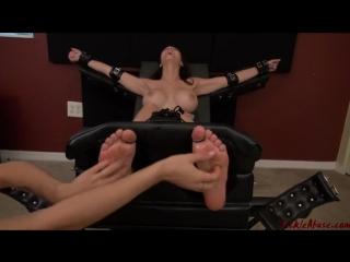 Two girls feet tickling