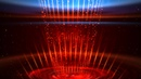4K Space Spotlight Stage Flare Dark Red Blue Animation Background Effect 2160p