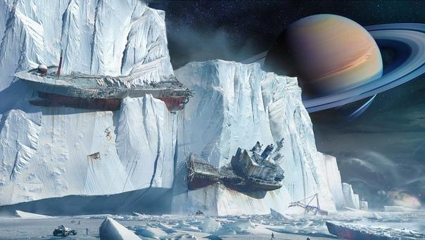 Льды Энцелада Вокруг было тихо, слишком тихо.Поначалу Андреа этого не заметила. Её заворожили кольца Сатурна. Девушка никогда не думала, что ей доведётся увидеть такую красоту. Белые шлейфы