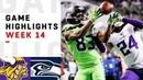Seahawks vs Vikings Week 14 Highlights NFL 2018