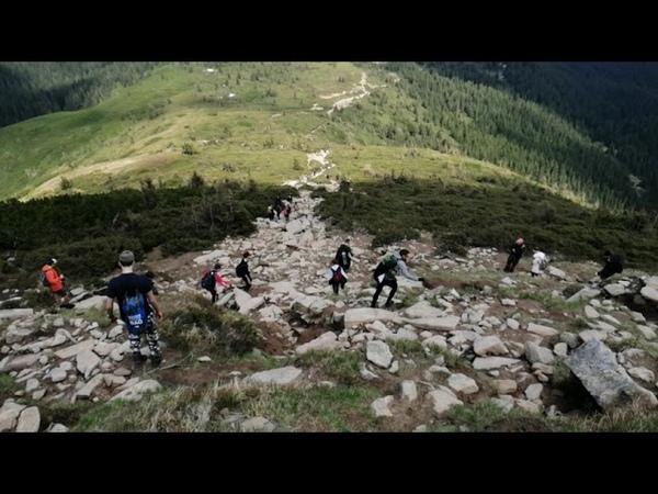 Спуск с горы Говерла