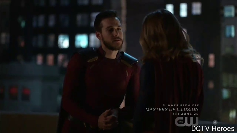 Supergirl 3x23. Mon El and Supergirl say thanks and goodbye to Each Other Scene