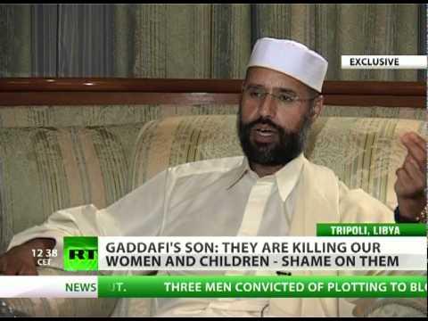 Gaddafis son Libya like McDonalds for NATO - fast war as fast food