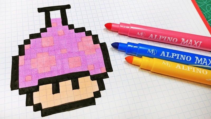 Halloween Pixel Art How To Draw Mushroom Potion pixelart