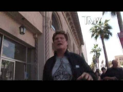 David Hasselhoff Is a Star ... at His Star | TMZ