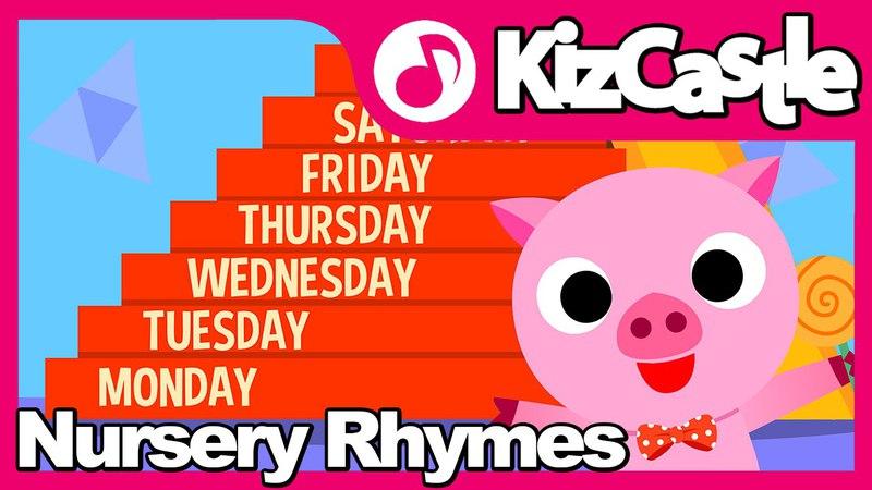 Days of the Week | Nursery Rhymes | Mother Goose | Kids Songs | KizCastle