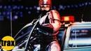 Robo Drives To Jones Robocop Soundtrack
