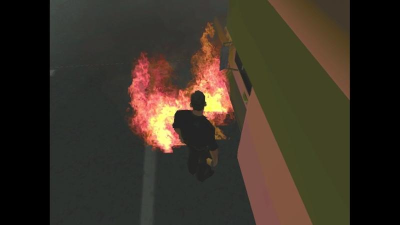 Чуть не сгорел блятб