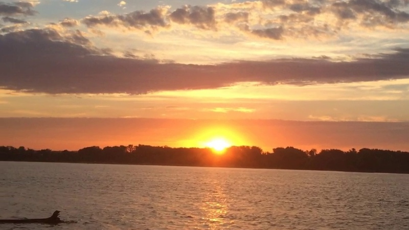 Красивое небо.Закат и восход солнца.