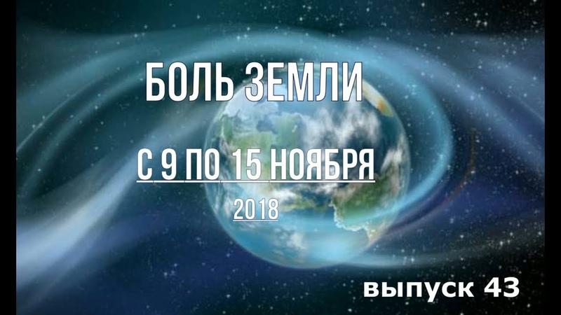 Катаклизмы за неделю с 9 по 15 ноября