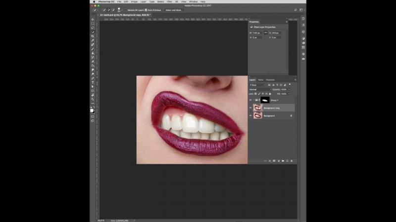 Белоснежная улыбка в Фотошоп — Photosop Education
