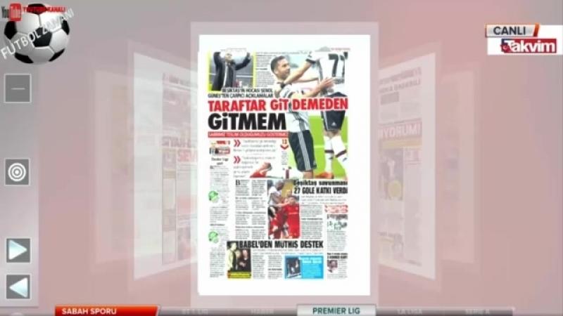 Beşiktaş 2-0 Kayserispor Şenol Güneş -Taraftar Git Demeden Gitmem
