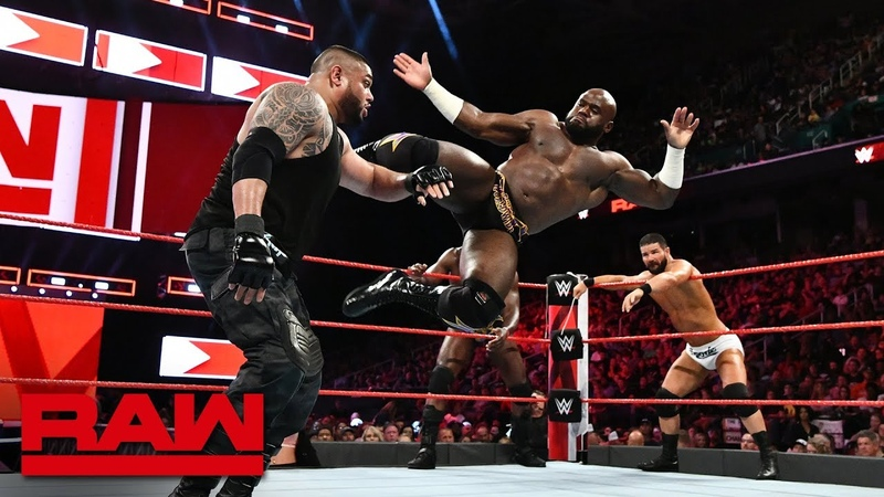 Bobby Roode Titus Worldwide vs Mojo Rawley The Authors of Pain Raw Aug 13 2018