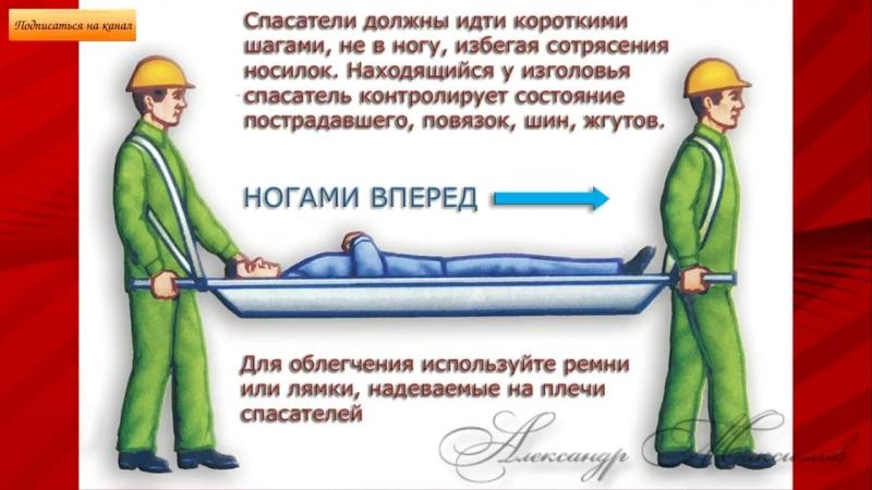Как правильно переносить потерпевших при различных травмах