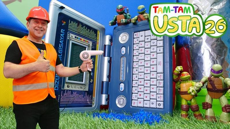 Tam Tam Usta. Ninja Kaplumbağaların bilgisayarını tamir ediyoruz