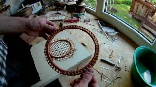 №24 Плетение основания на основе полотна из ленты лозы . (Плетение из лозы - Wickerwork)