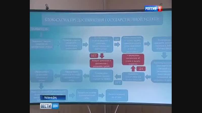 Сюжет ГТРК Дон-ТР об ужесточении правил хранения и оборота оружия