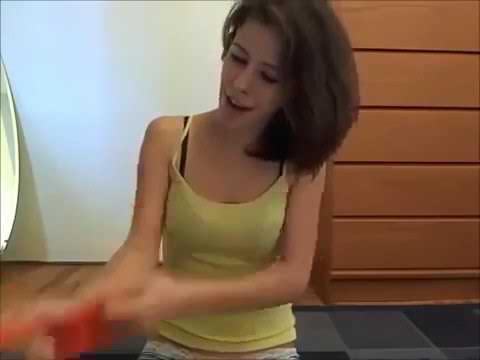 Looner girl: blow to pop balloon