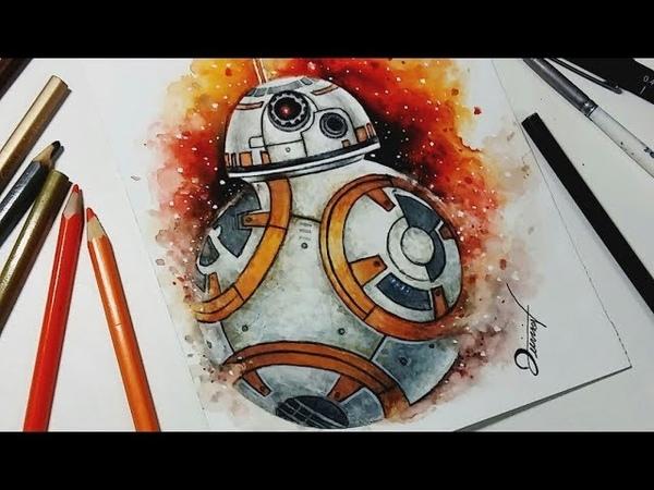 Speed Drawing STAR WARS - BB-8 【Aquarela Watercolor Speedpaint】