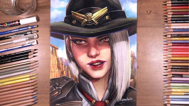 Drawing Overwatch: Ashe - Reunion Ver.