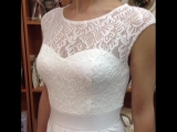 Свадебное платье из антика и гипюра