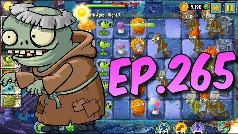 Plants vs. Zombies 2 || Buying a new Plant Pea-Nut, New Imp Monk Zombie - Dark Ages Night 3 (Ep.265)