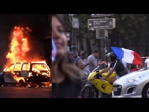 [Folie de la Coupe du monde] Paris enflammé, joie, euphorie, incidents, voiture brulée...