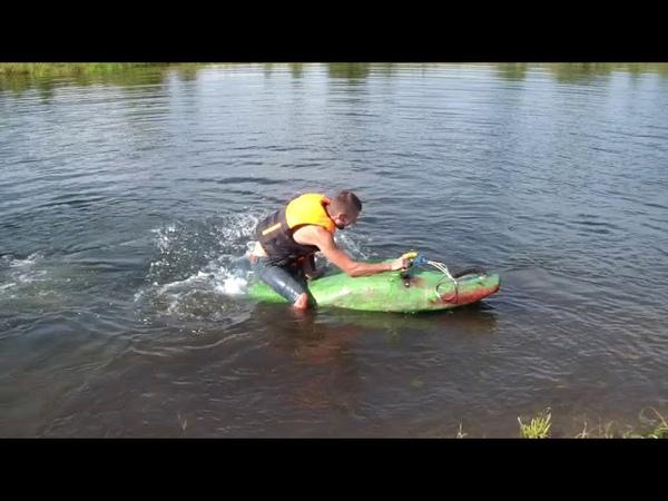 Jet surf из бензопилы урал, не удачный вариант
