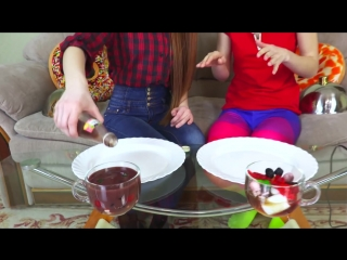 [ЛилиБу] Желейный СМУЗИ на ДВОИХ Супер веселый челлендж