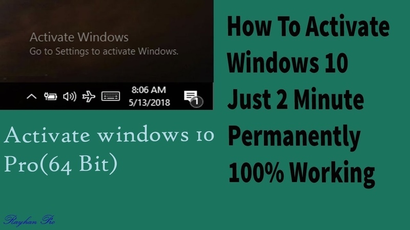How To Activate Windows 10 Just 2 minute(100 working)|2018|