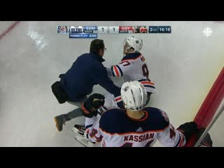 Connor McDavid Injury No update at this point.  Just awful. Oilers Connor McDavid needed help off the ice after crashing hard