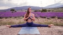 Yin Yoga Practice By The Lavender Fields Flexibility Flow Alyona Moves