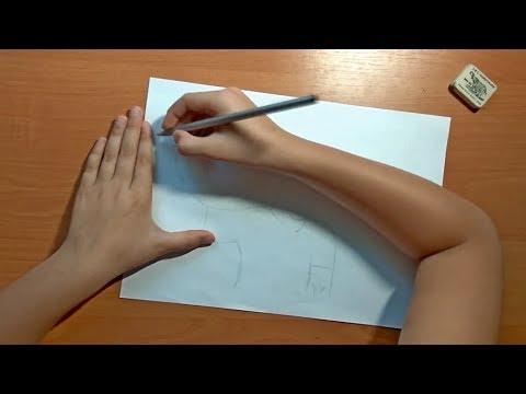 Как нарисовать футболиста. Лионель Месси. How to Draw Lionel Messi - FC Barcelona. Маша Машуня