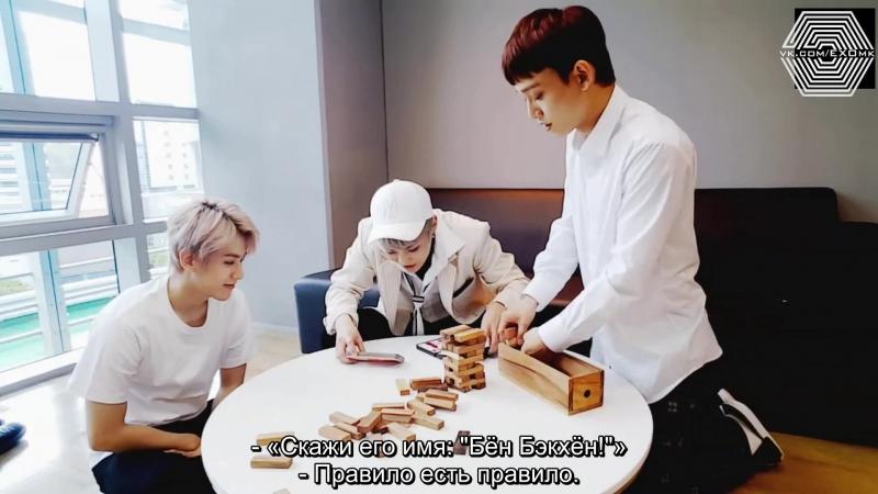 [РУСС. САБ] 180414 EXO CBX @ Saturday's Broadcast ChenBaekXi