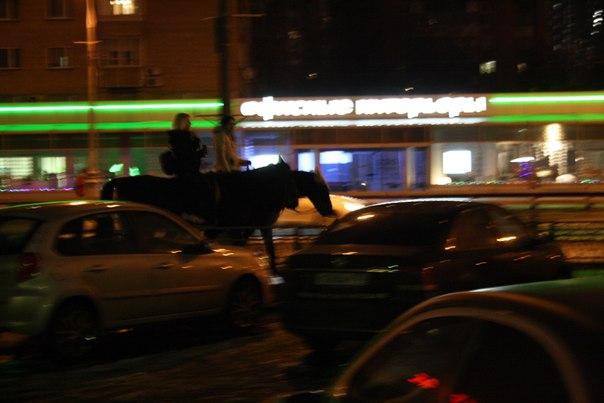 На лошадях в центре Москвы