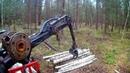 Т-25 с самодельным лесным манипулятором Praca w lesie. T-25