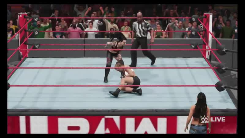 WWE 2K19 MONDAY NIGHT RAW RONDA ROUSEY VS RUBY RIOTT