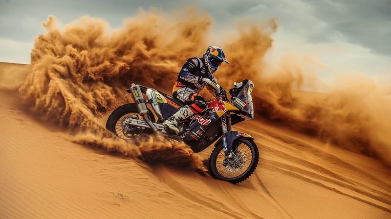 Картинка мотоцикл. Песок, Bike, Ралли, Moto, Дюна, Дакар, Rally, Motorbike.
